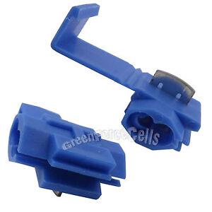 30x Electrical Terminals Crimp Quick Splice Lock Wire Connector 18-14 Gauge Blue