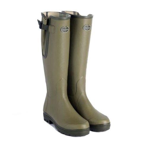 Le Chameau Vierzon Jersey Lined Wellington Boots Wellies Vert Vierzon