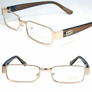 d2868adede8e New Mens Women DG Clear Lens Gold Frame Glasses Designer Fashion ...