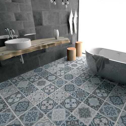 60*120cm Waterproof Grey Moroccan Tile Floor Stickers Home Decor Anti-slip