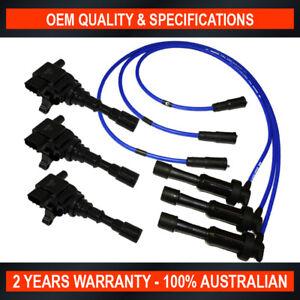 3x-OEM-Quality-Swan-Ignition-Coil-w-NGK-Lead-Kit-for-Kia-Sorento-3-5L-V6-G6CU