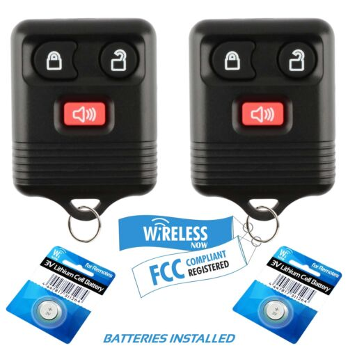 2 Car Key Fob Remote For 1998 1999 2000 2001 2002 2003 2004 Ford F-150 Heritage