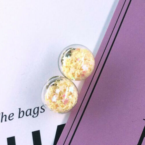 10Pcs Christmas Star Glass Ball Beads Pendant DIY Jewelry Making Accessories New