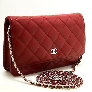 7b020216e5ce n74 CHANEL Red Wallet On Chain WOC Shoulder Bag Crossbody Clutch ...