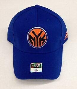 Basketball Nba New York Knicks Reebok Curve Brim Velcroback Cap Hat New Memorabilia
