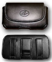 Leather Case Pouch Holster W Belt Clip For Verizon Lg Extravert 2, Cosmos Vn250