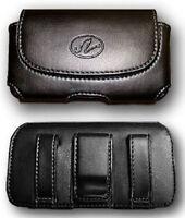 Leather Case Pouch Holster For Straight Talk Motorola W418g, Net10 Motorola V171