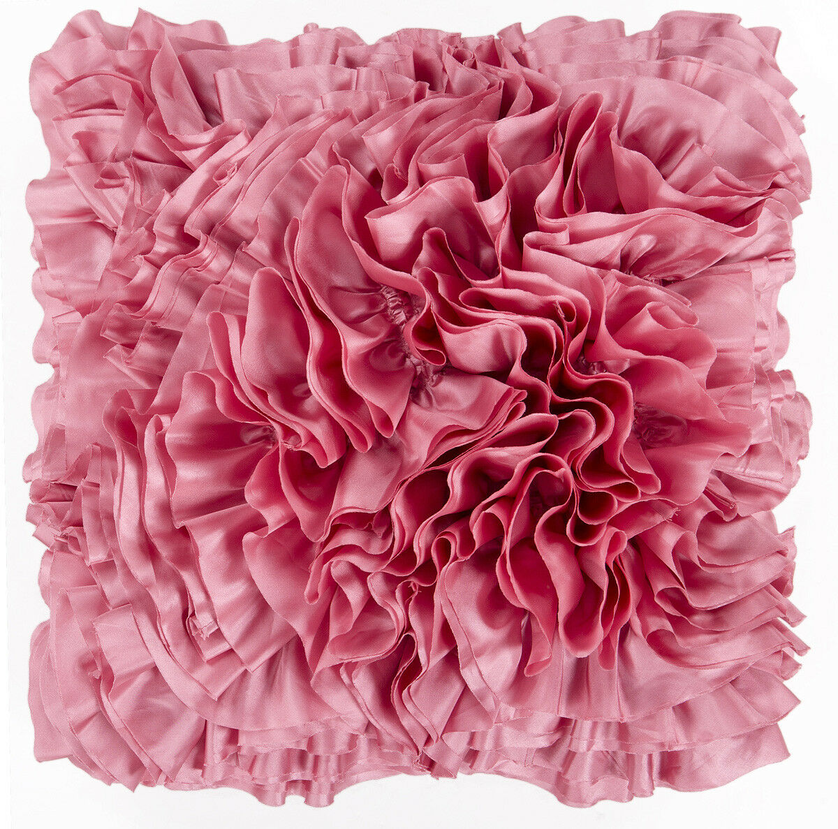 Surya Pinks Ruffles Frills Textured Romantic Area Rug Solid BB034