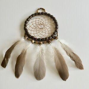 Navajo-Dream-Catcher-Handcrafted-Collectible-Wooden-Bead-Mandella-Dark-Brown-7
