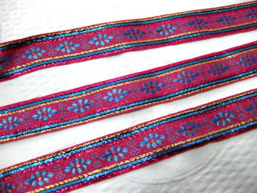 Orientali bordato in diversi colori circa 28mm larga b206 lini