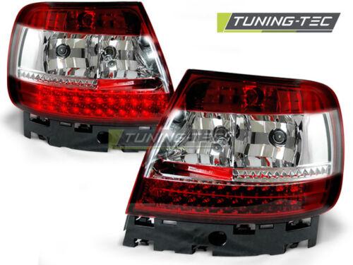 LED RÜCKLEUCHTEN FÜR  AUDI A4 B5 11.94-09.00 ROT WEIß LED LDAU25