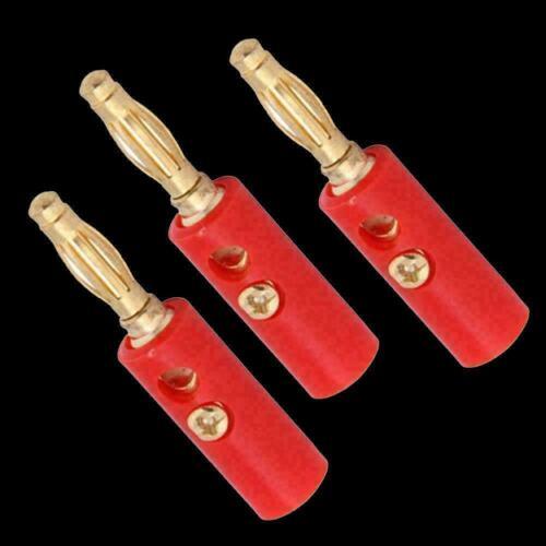 4mm lot Vergoldet Audio Lautsprecherkabel Kabel Bananenstecker Adapter F7A5 X6W2
