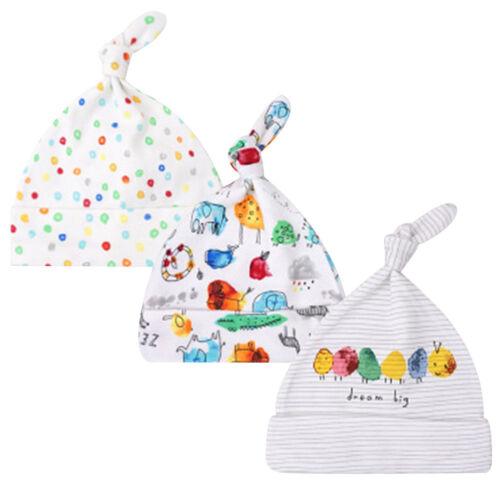 3er Neugeborene Kinder Baby Mädchen Jungen Beanie Mütze Weiche für 0-6 MonateNeu