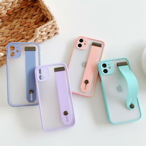 Matte-Strap-Clear-Hard-Case-Cover-For-iPhone-SE-2020-11-Pro-Max-XS-XR-8-6-7-Plus