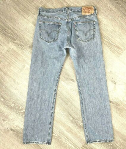 Levis 501 Jeans Mens Distressed Worn In MEASURES … - image 1