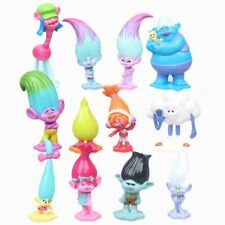 TROLLS 12 Figure Set DREAMWORKS PVC TOY Cake Topper POPPY Branch DJ SUKU Biggie!