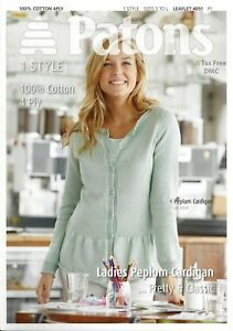 be18ff29e8ad VAT Free Knitting PATTERN ONLY Patons Women s Lady s Peplum Cardigan ...
