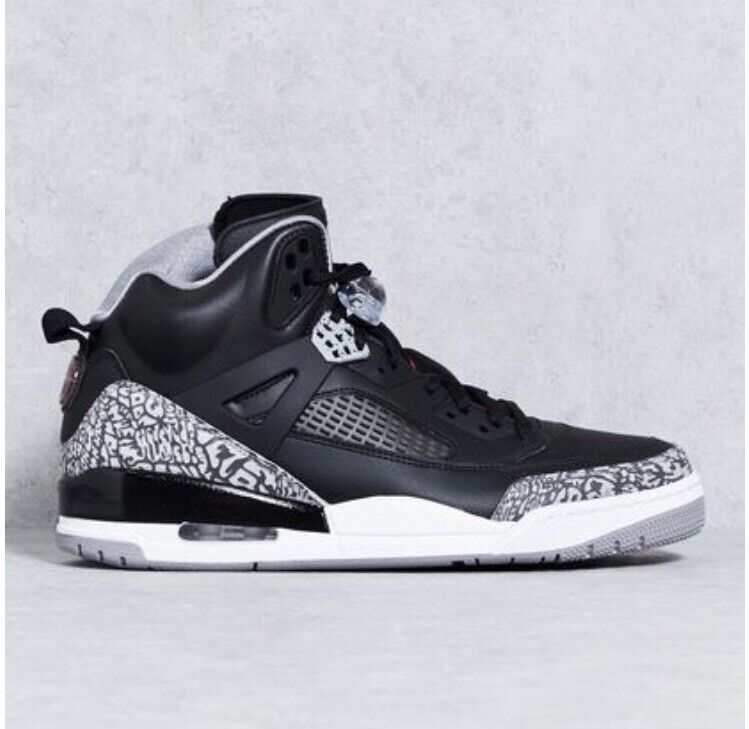 Nike Air Jordan Spizike OG Black Cement Grey White Red 3 4 5 X 315371-034 Sz 9.5
