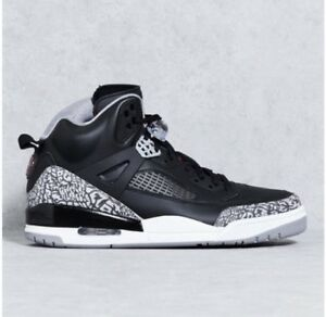 sale retailer 18eba 11c9a Image is loading Nike-Air-Jordan-Spizike-OG-Black-Cement-Grey-