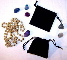 24 Small Black Velvet Drawstring Storage Jewelry Bags Soft Bag Coins Rocks New