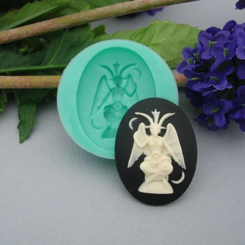 Silicone Mold Baphomet Cameo Flexible Mold  for Crafts Jewelry Resin.