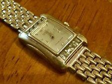 "Ecclissi Sterling Silver 925 Blue Topaz Women's Panther LinkWristwatch 7.5"" Inch"