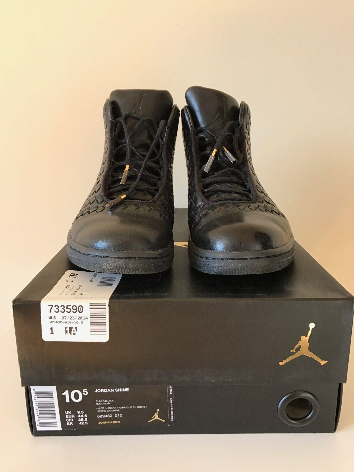 USED Nike Air Jordan - Shine Black sz 10.5