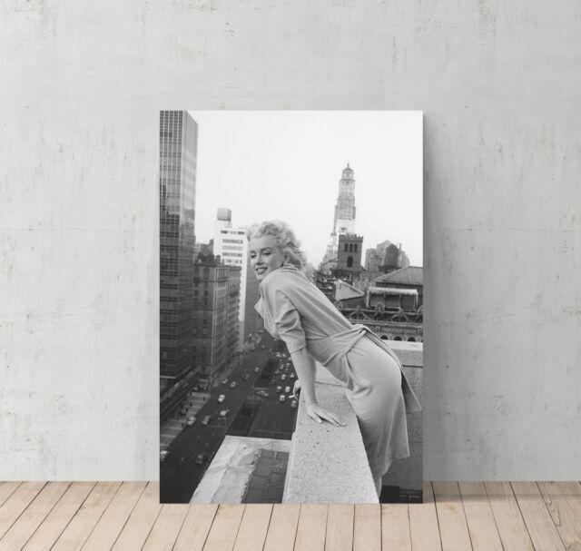 Marilyn Monroe Framed Panel Print Canvas Wall Art Home Decor 22x15 ...