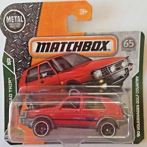 Matchbox-039-90-VW-Volkswagen-Mk2-Golf-Country-red