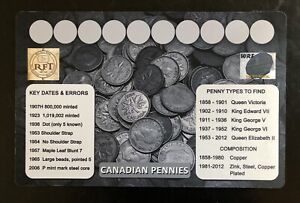 Set of 17 Colored Canada 25-cents Coins from Mint Rolls