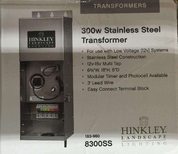 Hinkley Lighting 0300SS, paisaje Transformador 300 vatios En Acero Inoxidable