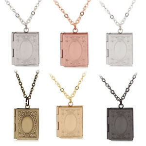 Jewelry & Accessories Cute Photo Box Islam Locket Diy Photo Box Necklace Quran Book Shape Pendant Muslim Jewelry Gift