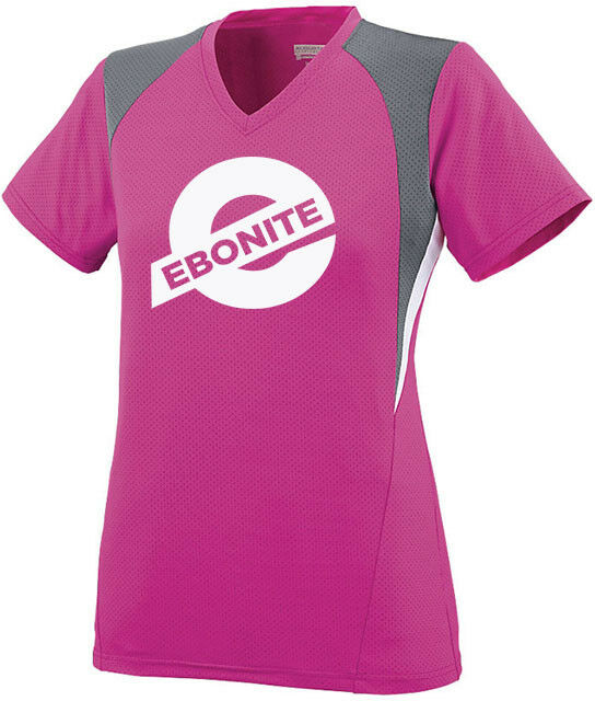 Ebonite Women's Challenge Performance Crew Bowling Jersey Shirt Pink