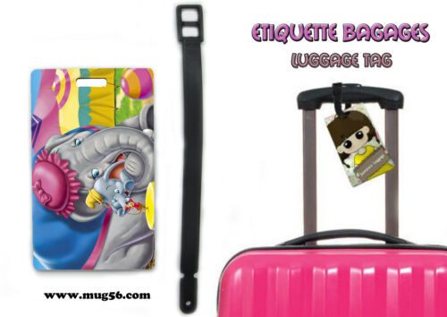 luggage tag Etiquette bagage disney dumbo 01-002