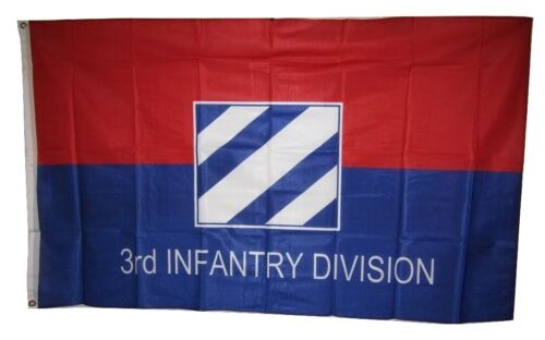Army 3rd Infantry Division Knitted Nylon Flag 3/'x5/'  Brass Grommets 3x5 U.S