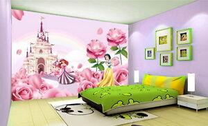 Image Is Loading 3D Disney Princess Castle Wallpaper Ariel Snow