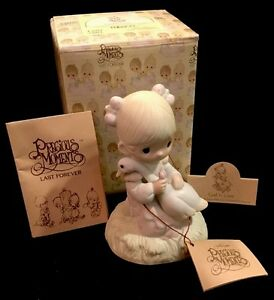Precious Moments God Is Love Girl Holding Goose Limited Event Figurine E5213R