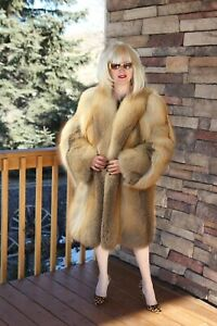 Natural-Golden-Island-Fox-Fur-Coat-Made-in-Italy-GORGEOUS