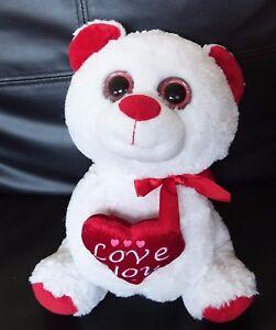 Image Is Loading Kellytoy Valentine 039 S Day Plush Stuffed White
