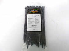 "8"" Cold Weather Resistant UV Black Cable Zip Tie 100 Quantity 50 lb Load 8"" Long"