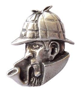 Sherlock Holmes Pewter Pin Badge