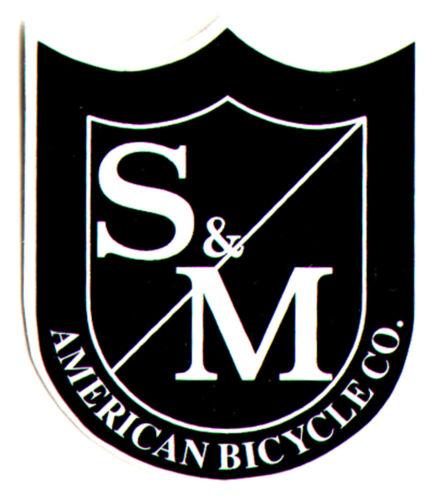S/&m Bikes découpées Noir//Blanc Bouclier BMX Autocollant 3.8 cm Haut environ bmxing New
