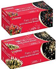 Clear or Multi Colour Bulb Christmas Fairy Tree Lights Xmas Party Decoration