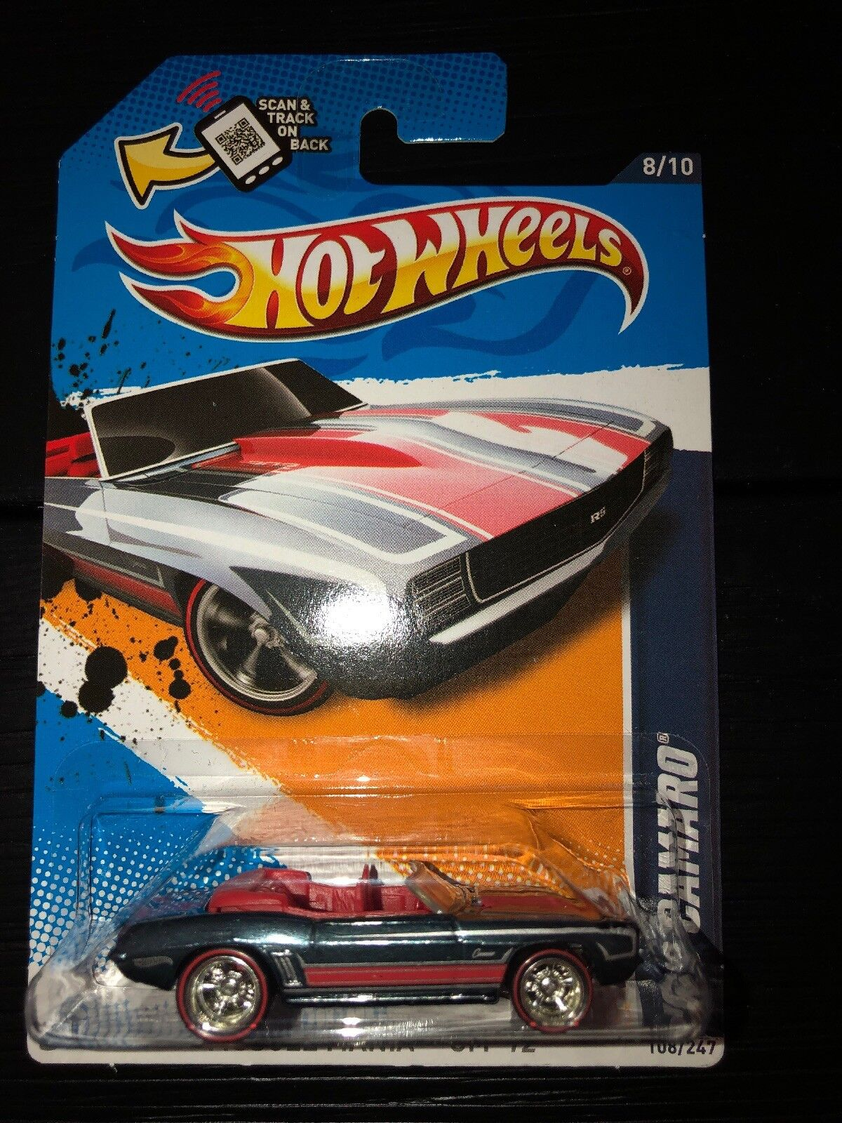 Hot Wheels Wheels Wheels 2012 Super Treasure Hunt 69 Camaro Muscle Mania GM Secret T-Hunt d1256f