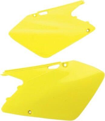 UFO Plastics Side Panels Yellow Suzuki RM250 03-08 RM125 03-07 Neon Yellow