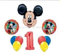 10pc Mickey Mouse First Birthday Feliz Cumpleanos Spanish Uno Free Shipping