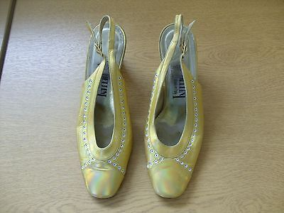Zapatos señoras Pellini Oro/Metálica En Charol Size UK 3.5, 36, 3370 italiano de la UE