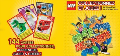 CARTE DE COLLECTION LEGO AUCHAN 2018 AU CHOIX N° 61 A 100 NEUF !!!