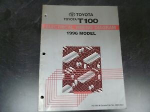 1996 Toyota T100 Pickup Truck Electrical Wiring Diagrams ...