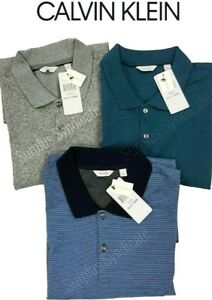 New-Calvin-Klein-Men-039-s-100-Cotton-Liquid-Touch-Polo-Shirt-Various-Color-Sizes